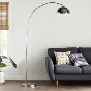 Alcesta Chrome Arched Floor Lamp