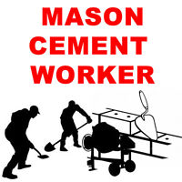 SKILLED MASON/CEMENT POSITION AVAILABLE