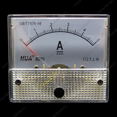 Dc 5a Analog Ammeter Panel Amp Current Meter 85c1 0-5a Dc Doesnt Need Shunt