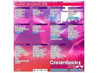 Creamfields tickets Sunday 28th x3