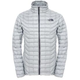 The North Face Men's Medium Thermoball Jacket Color Grey Bargain £60