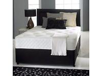 MIXED MEMORY FOAM DIVAN BED SET MATTRESS HEADBOARD SIZE 3FT 4FT6 Double 5FT King