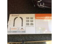 Universal sound bar bracket