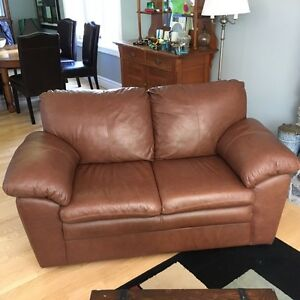 Leather couch, love seat and chair set for sale