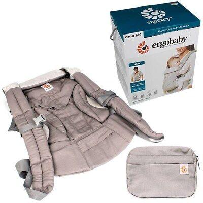 ERGO BABY OMNI 360 Ergonomic Newborn Infant Toddler Baby Cotton Carrier GREY