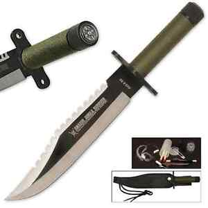 Rambo Style Jungle Survival Knife with Sheath