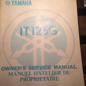 1980 Yamaha  IT125G Owners Service Manual