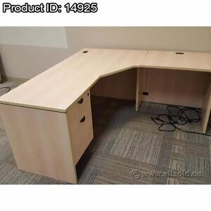 Assortment of Quality L-Suite Office Desks $325-$550