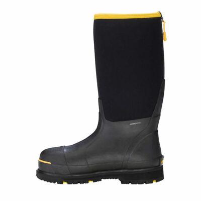New Dryshod Boots Steel-Toe HI Black and Yellow Boots Size Men's 8 Mens Steel Toe Schuh