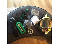 Scott phantom asbestos mask and chargers and filters