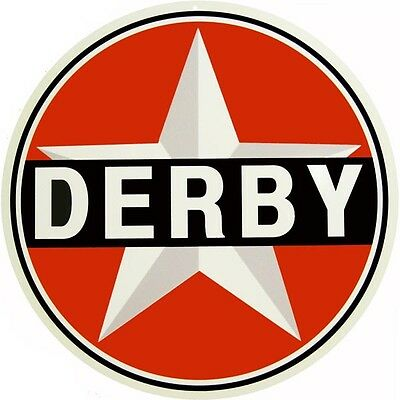 "Derby Gasoline 14"" Round Gas And Oil Sign"