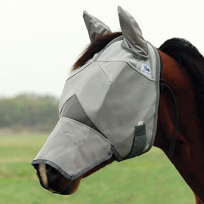 CASHEL STANDARD FLY MASK  HORSE Long With COVERS EARS and NOSE sun protection