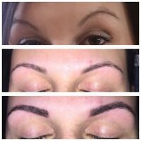 "Brow tattooing ""microblading"""