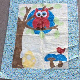 Handmade owl quilt