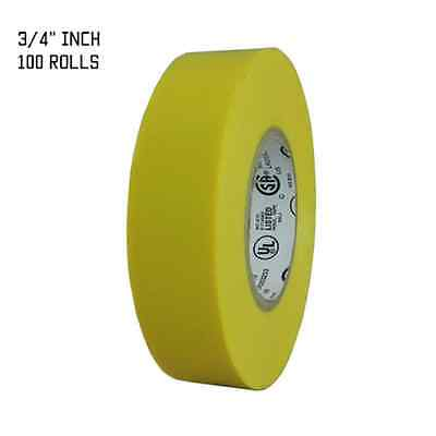 Tapessupply 100 Rolls Yellow Electrical Tape 34 X 66 Ft