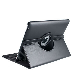 NEW BLACK 360 ROTATING PU LEATHER CASE COVER STAND FOR IPAD AIR Regina Regina Area image 7