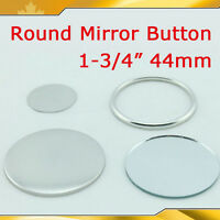 "100Sets 1-3/4"" 44mm Round Mirror Shine Make Up"