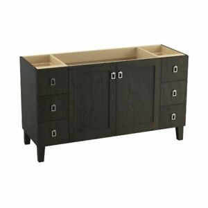 Kohler 99536-LG-1WC Poplin 60 Bathroom Vanity Cabinet With Legs