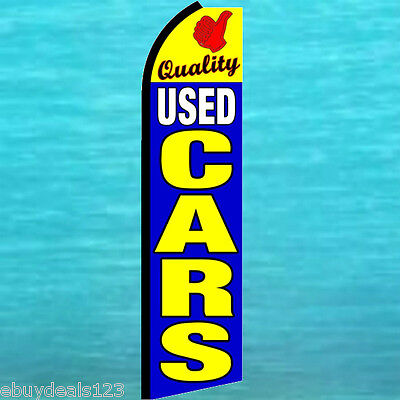 Quality Used Cars Flutter Flag Tall Feather Swooper Advertising Sign Banner 1995