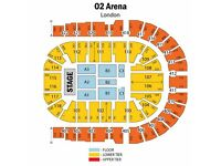 7 x CELINE DION TICKETS BLOCK 404 ROW A @ O2 ARENA LONDON 21 JUNE 2017 hand ready to post !!