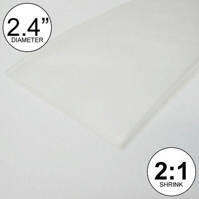 2.4 Id Clear Heat Shrink Tube 21 Ratio Wrap 2x24 4 Feet Inchftto 60mm