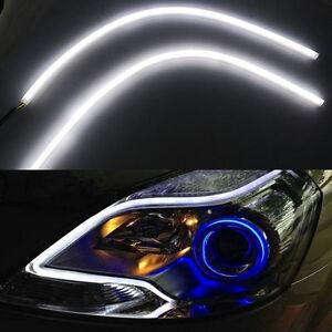 2x 42,5cm Audi Style Auto Fari LED Tubo Angel Eyes Switchback flessibile DRL IT  eBay