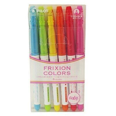Pilot Frixion Colors Erasable Marker 6 Color Set 1
