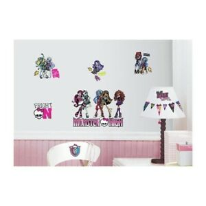 New RoomMates Monster High Peel and Stick Wall Decals