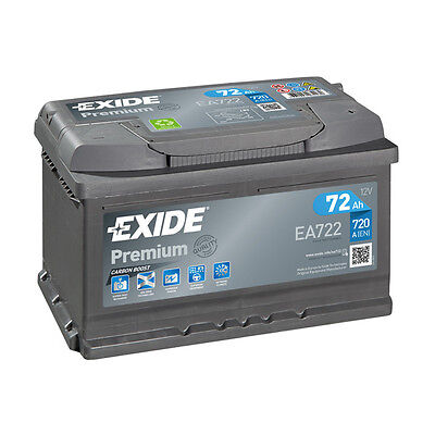 1x Exide Premium 72Ah 720CCA 12v Type 096 Car Battery 4 Year Warranty   EA722