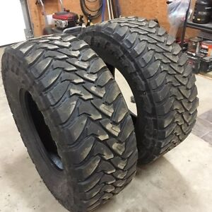 37x13.5x18LT Toyo M/T tires 40%-50% tread