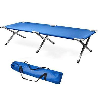 Folding Camping Bed Outdoor Portable Military Cot Sleeping Hiking Guest Travel