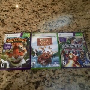 Xbox 360 games, Marvel Avengers, Kinectimals, Open season
