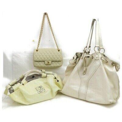 Ysl Loewe Bally Leather Enamel Tote Bag Shoulder /hand Bag 3pc Set 515943 Photo