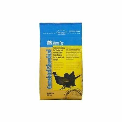 Manna Pro 0046203236 Complete Gamebird Showbird Crumble Feed 5 Pound Bag