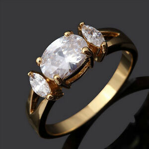 Beautiful Oval White Sapphire 10KT Gold Filled Ring Edmonton Edmonton Area image 2