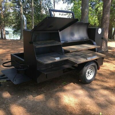 Never Used 2019 7 X 11 Open Barbecue Smoker Trailer Bbq Pit Trailer For Sale