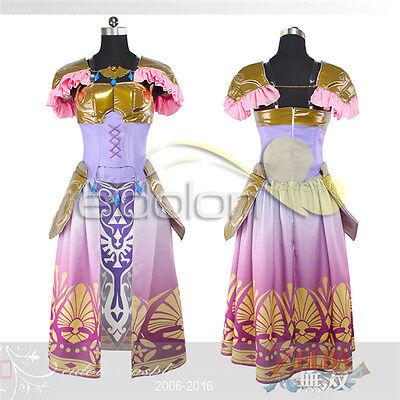 Hot The Legend of Zelda Princess Zelda Dress Cosplay Costume Customized