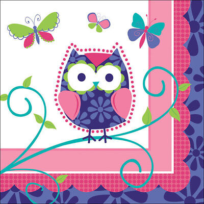 Owl Pal Birthday Party Supplies Small Beverage Napkins](Owl Birthday Party)
