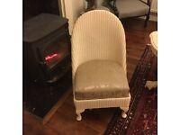 Genuine Lloyd Loom Bedroom/ Nursing Chair Vintage Shabby Chic Sale