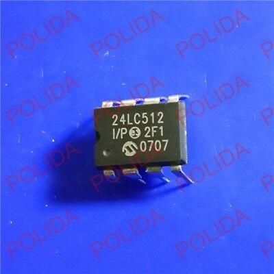 5pcs Eeprom Ic Microchip Dip-8 24lc512-ip 24lc512