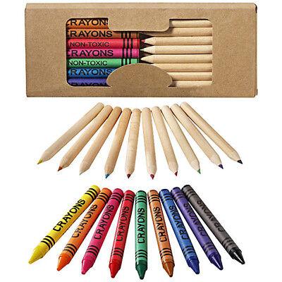 Confezione Set 19 Pezzi Matite Colorate in Legno e Pastelli a Cera Colori Scuola