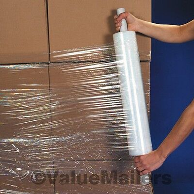 20 X 1000 4 Rolls Extended Core Shrink Wrap Stretch Film 80 Gauge 20x1000