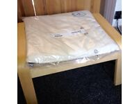 Posing foot stool with still packaged cushion cream