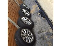 Audi 17 alloy wheels with tyres