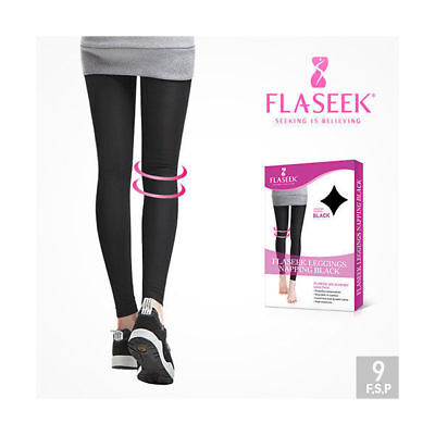FLASEEK LEGGINGS NAPPING Black Compression Warm Winter Leg Support Stocking_en