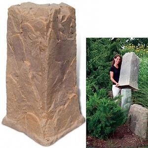 Dekorra mock rock 113ab utility pedestal cover rock for Landscape rock utility cover