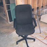 Black office chair needs a vacuum