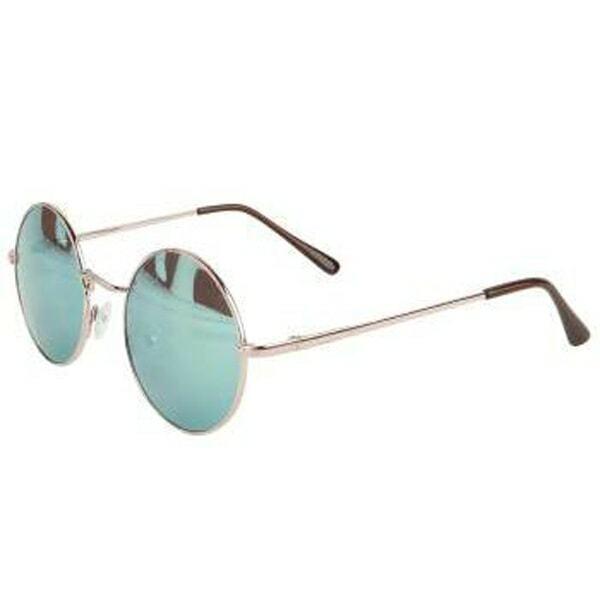 Gothic Sonnenbrille mit runden Gläsern, UV400 grün, Unisex Punk Retro Vampir