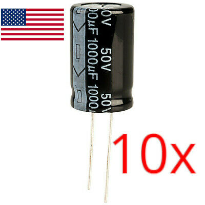 10pcs 1000uf 50v Electrolytic Capacitors