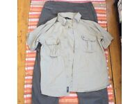 Craghoppers fleece lined trousers 32 waist & Craghoppers mosquito repellent shirt in small